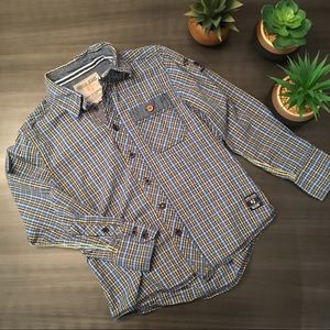 ☀️2/20$☀️ GARCIA JEANS boy plaid shirt